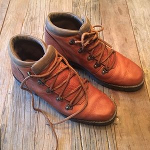 Timberland Camel Brown Leather Lace-up Boots Sz 6